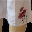 Háromnegyedes vászonnadrág virággal Kanz