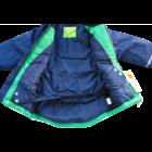 Vízálló, bélelt Télikabát zöld-kék - CeLaVi