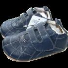 Bőr kocsicipő kék Kanz