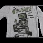Pulóver szürke Ware House felirattal - iDo Dodipetto