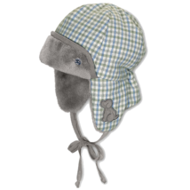 Sterntaler sapka kék-szürke kockás 0ae40bd278