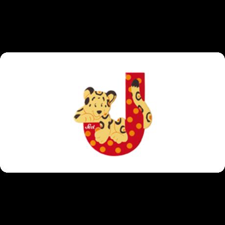 J betű állatos piros