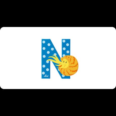 N betű állatos kék
