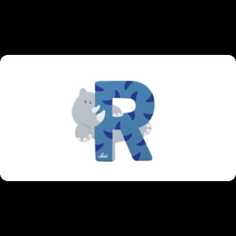 R betű állatos kék