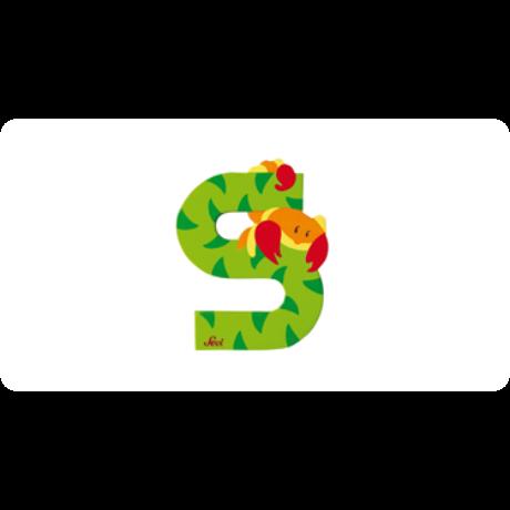 S betű állatos zöld