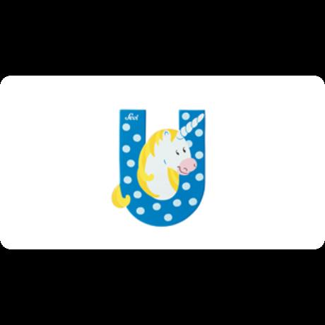 U betű állatos kék
