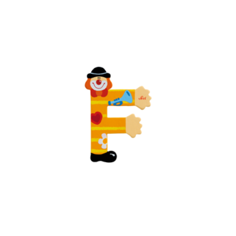 F betű bohócos sárga