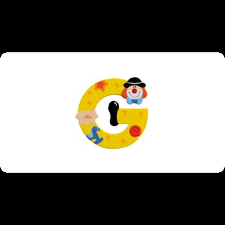 G betű bohócos sárga