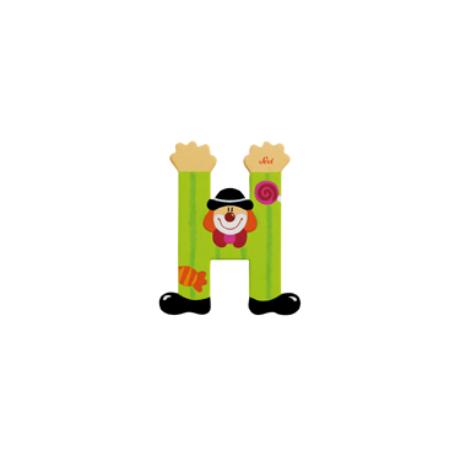 H betű bohócos zöld