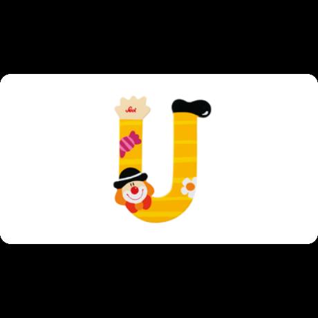 U betű bohócos sárga