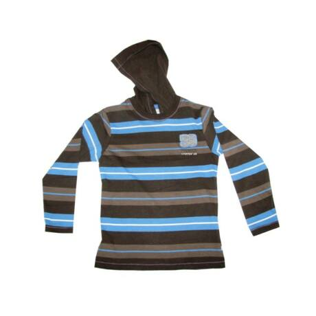 Kapucnis pulóver kék csíkos Kanz