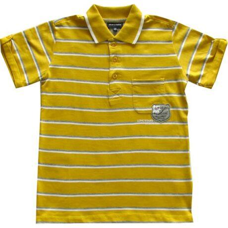 Galléros póló mustár színű Kanz