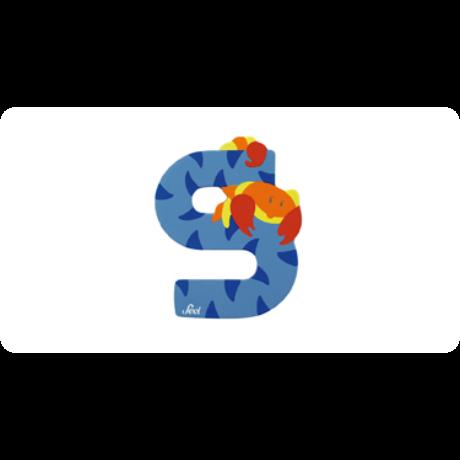 S betű állatos kék Sevi