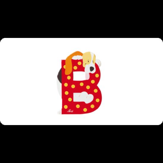 B betű állatos piros
