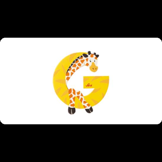 G betű állatos sárga