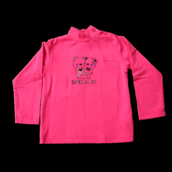 Pulóver macikkal pink