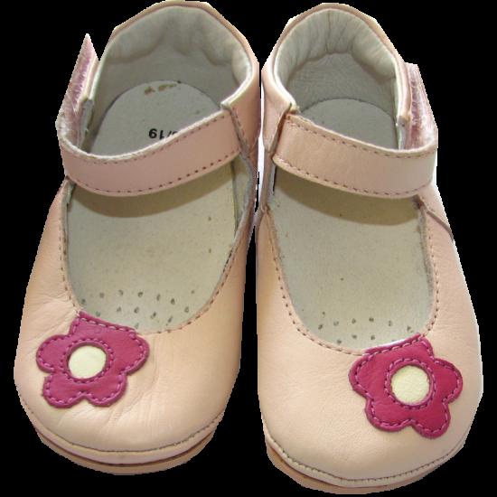 Bőr kocsicipő rózsaszín Kanz