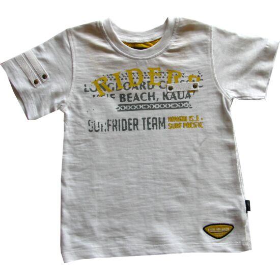Póló mustár színű felirattal Kanz