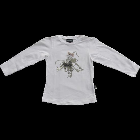 Pulóver fehér masnis Kanz