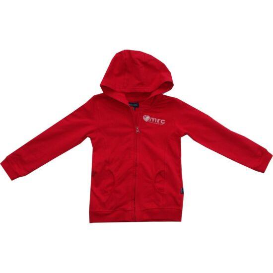 Kapucnis pulóver piros Kanz