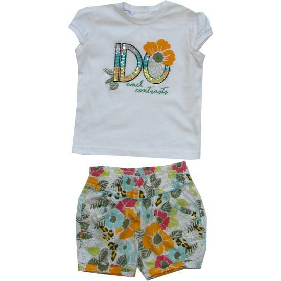 Kétrészes garnitúra virágokkal iDO Dodipetto