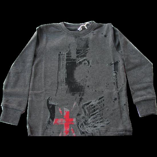 Gitáros pulóver szürke - unisex - iDO Dodipetto