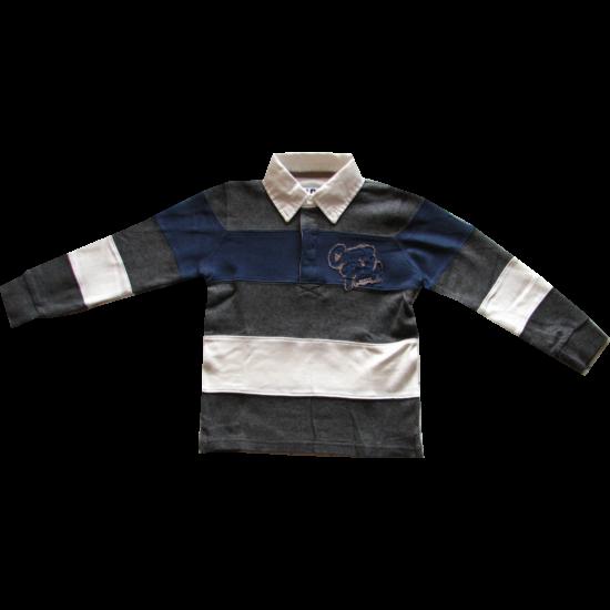 Galléros pulóver kék-szürke - iDO