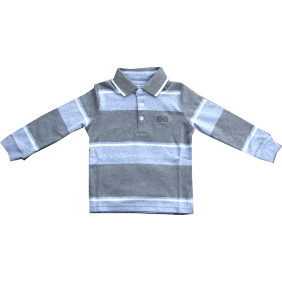 Galléros pulóver szürke csíkos - iDO