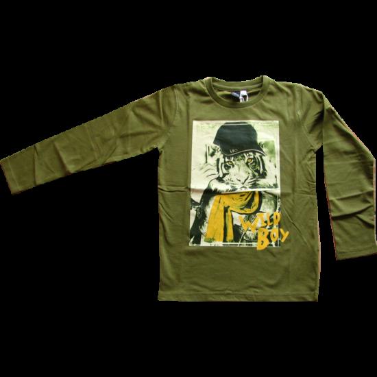 Tigrises pulóver zöld - iDO