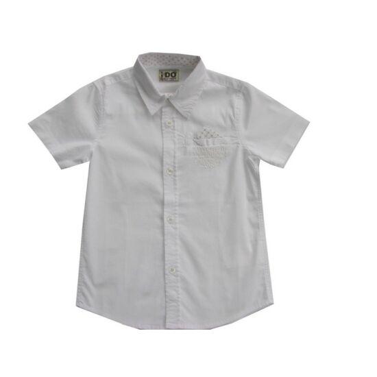 Fiú fehér ing rövid ujjú - iDO