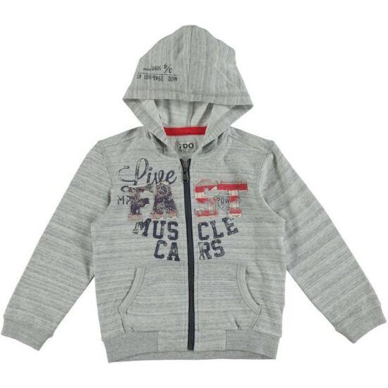 Kapucnis pulóver szürke - iDO