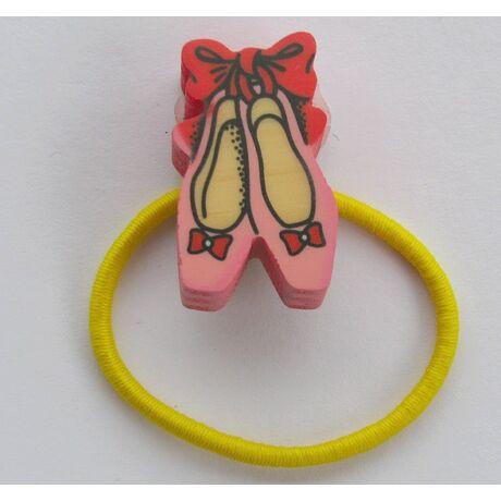 Hajgumi balerina cipők sárga - Bartolucci