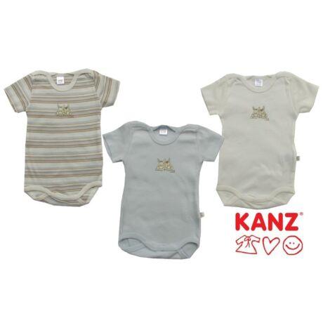 Három darabos body rövidujjú kék Kanz