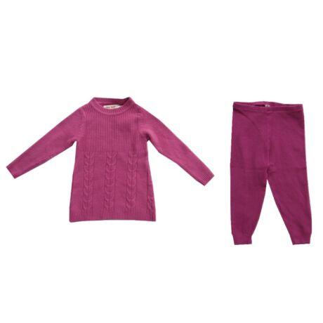 Kétrészes együttes lila pulóverrel