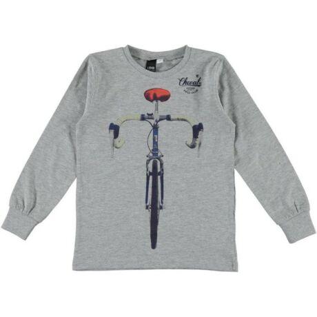 Fiú pulóver biciklivel szürke - iDO